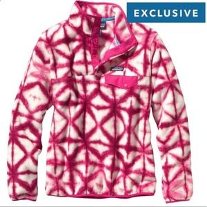Patagonia, Pink and White Pullover